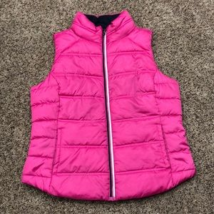 Pink and navy vest